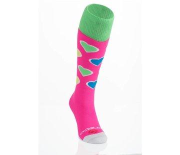 Brabo Socken Hearts Pink/Lime