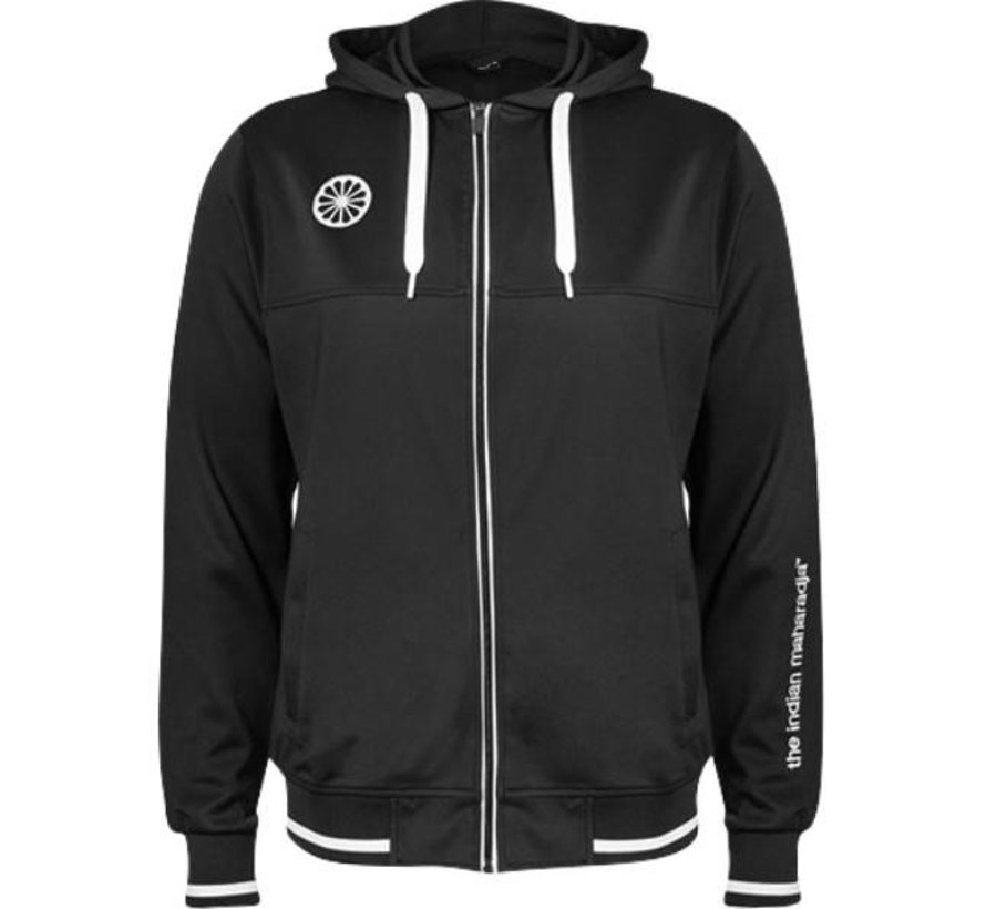 Herren Tech hooded schwarz