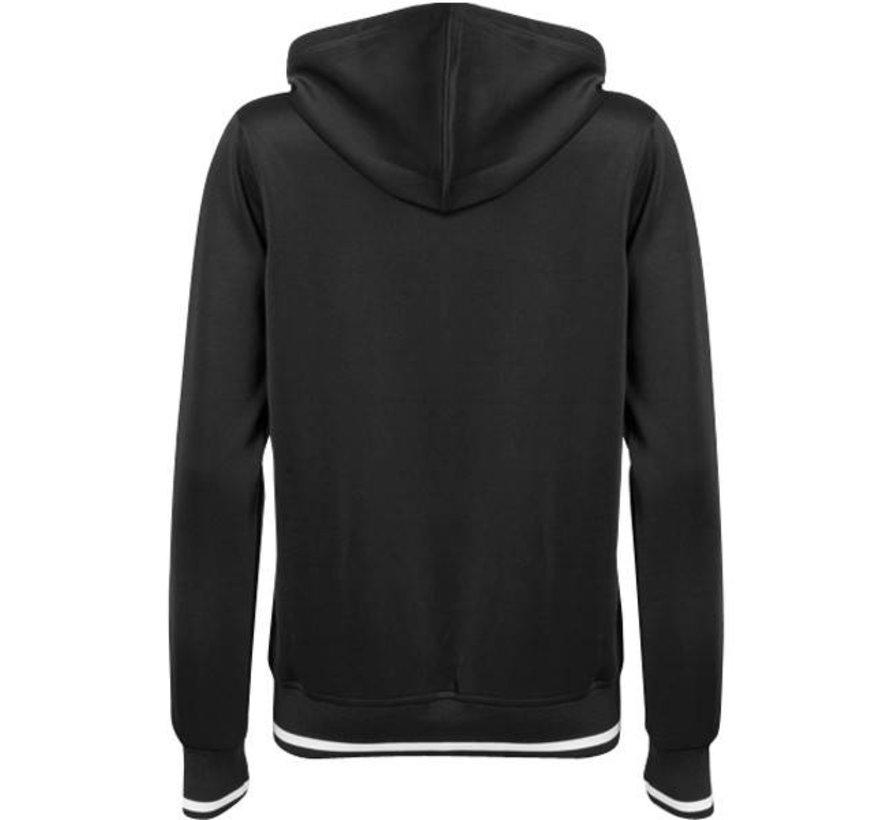 Women's tech hooded Zwart