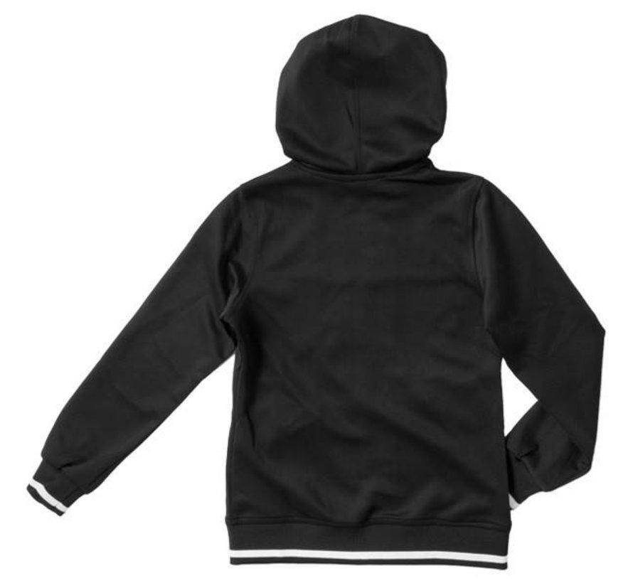 Kids tech hooded Zwart