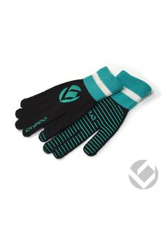 Brabo Winter Glove Black/Cyan