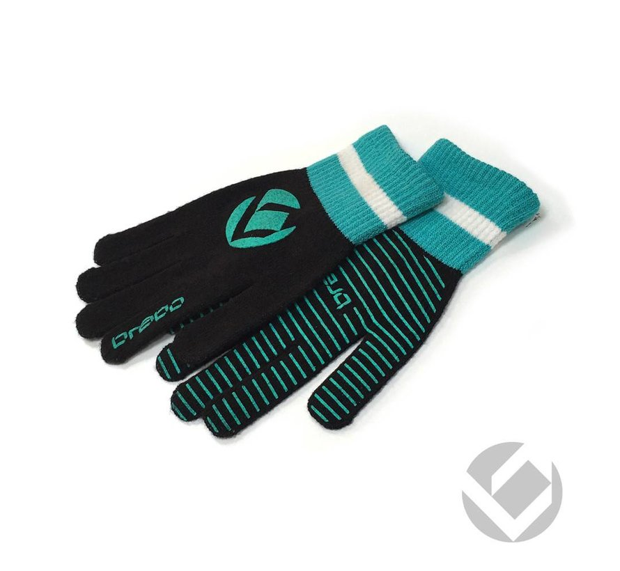 Winter handschoen Zwart/Cyan