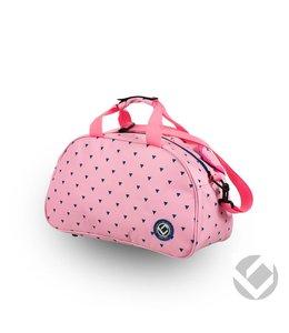 Brabo Schultertasche Triangles Pink / Navy