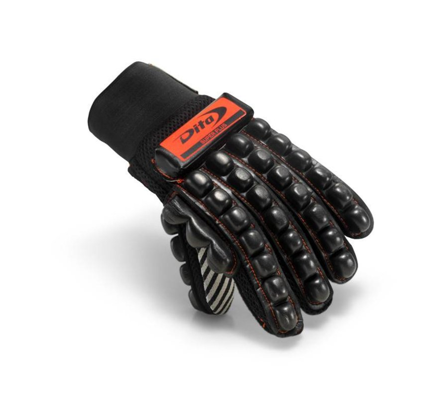 Glove Super Plus Fluo Rood/Zwart