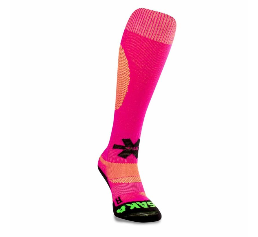 Hockeysocken Pink/Gelb Melange