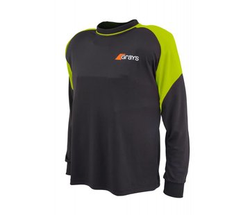 Grays GK Shirt Nitro Black/Neon Yellow L/S