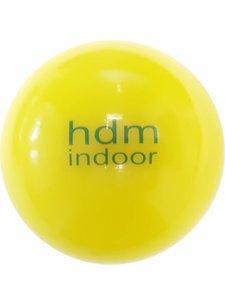 Hockeypoint 500  zaalhockeyballen geel met ingelegd logo