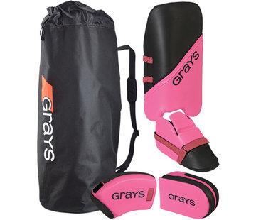 Grays G100 Goalie Set Junior Schwarz/Pink