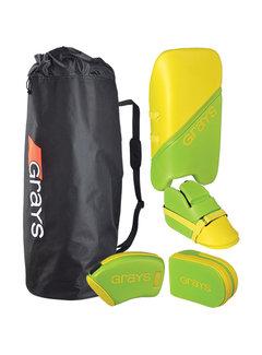 Grays G100 Goalie Set Junior Lime/Fluo Geel