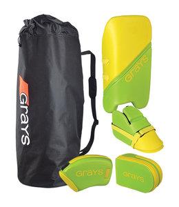 Grays G100 Goalie Set Junior Lime/Fluo Yellow