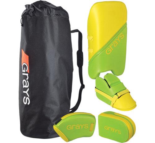 Grays G100 Goalie Set Junior Lime/Fluo Gelb
