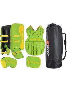 Grays G90 Goalie Set Junior Lime/Fluo Geel