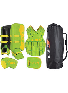 Grays G90 Goalie Set Junior Lime/Fluo Yellow