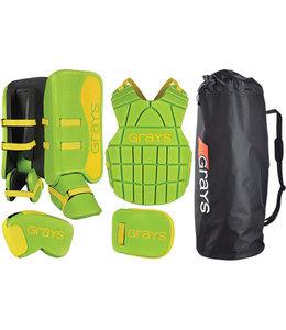 Grays G90 Goalie Set Junior Lime/Fluo Yellow