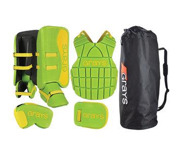 Grays G90 Goalie Set Junior Lime/Fluo Gelb