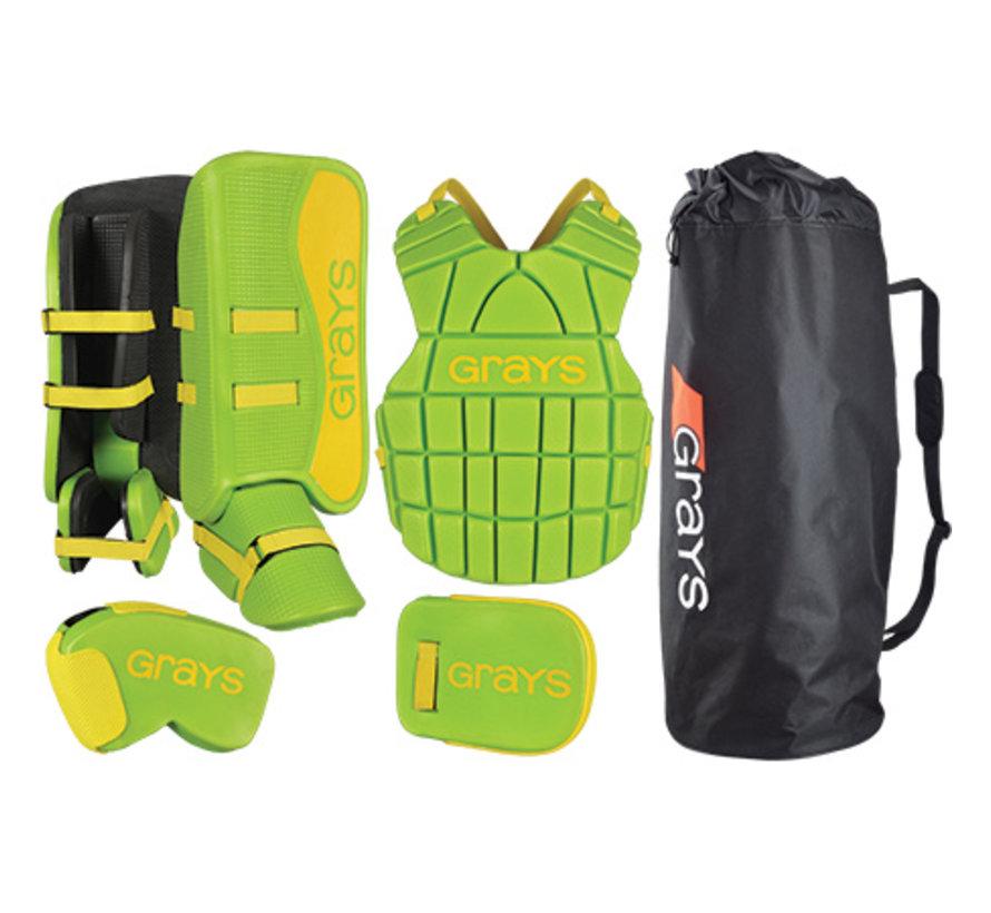 G90 Goalie Set Junior Lime/Fluo Geel