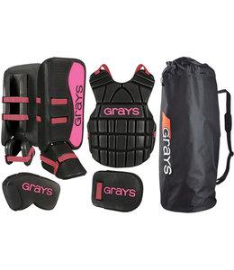 Grays G90 Goalie Set Junior Black/Pink