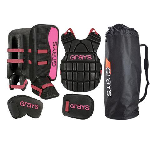 Grays G90 Goalie Set Junior Schwarz/Pink