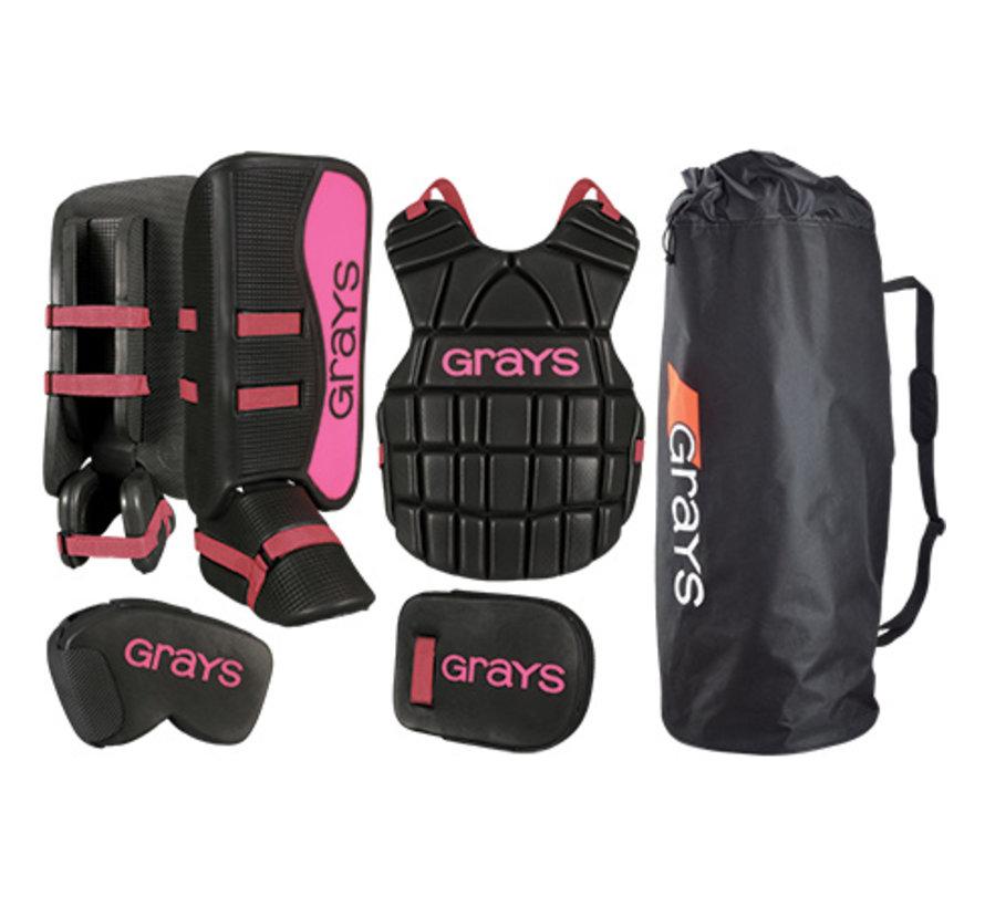 G90 Goalie Set Junior Schwarz/Pink