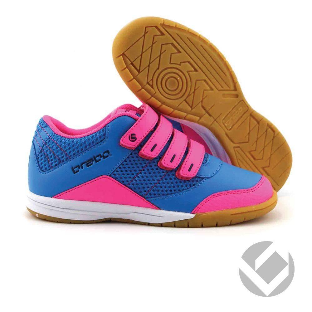 5d2b262c59b Brabo Indoor velcro shoe Zwart/Roze/Navy - Hockeypoint