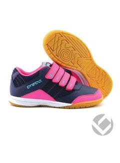 Brabo Indoor velcro shoe Navy/Roze/Aqua