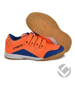 Brabo Indoor velcro shoe Neon Orange/Blue
