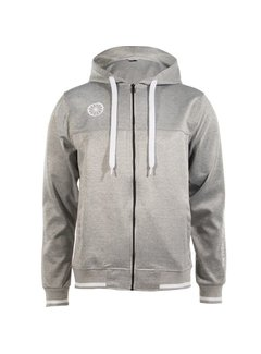 Indian Maharadja Men's tech hooded Grijs