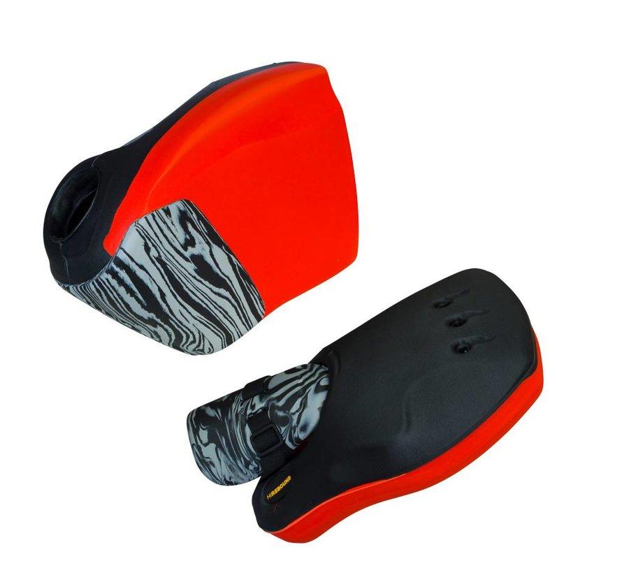 ROBO Hi-Rebound Handprotector Rood/Zwart Set