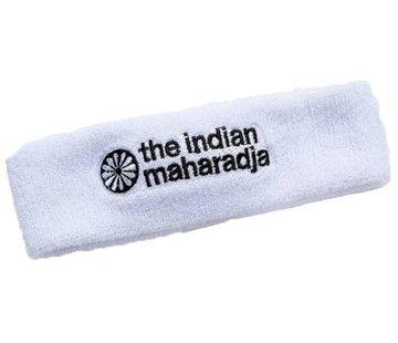 Indian Maharadja Headband White