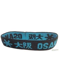 Osaka Bracelet Elastic Blauw/Zwart