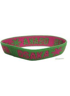 Osaka Bracelet Elastic Roze/Groen