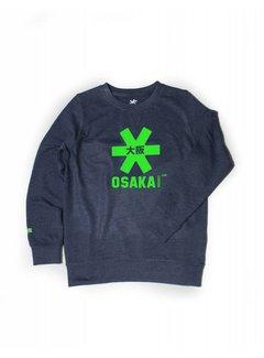 5fc81ad672a Osaka Deshi Sweater Kids Navy Melange-Groen Logo