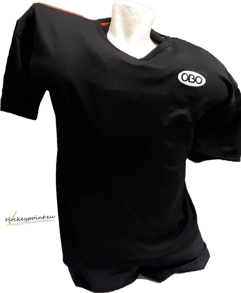Obo Goalieshirt Short Sleeve Black Orange Hockeypoint