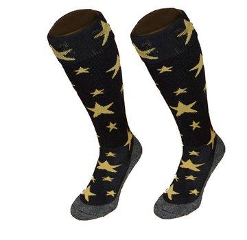 Hingly Hockeysok Star Zwart/Goud
