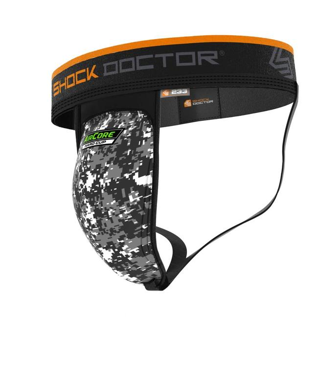 Shock doctor Supporter met AirCore Hard Cup Zwart