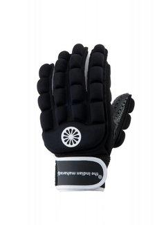 Indian Maharadja Handschoen foam hele vingers zwart [links]