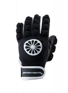 Indian Maharadja Handschoen shell/foam hele vingers zwart [links]
