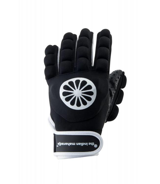Indian Maharadja Glove shell/foam full links Zwart