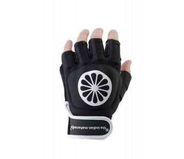 Indian Maharadja Handschoen shell halve vingers zwart [links]