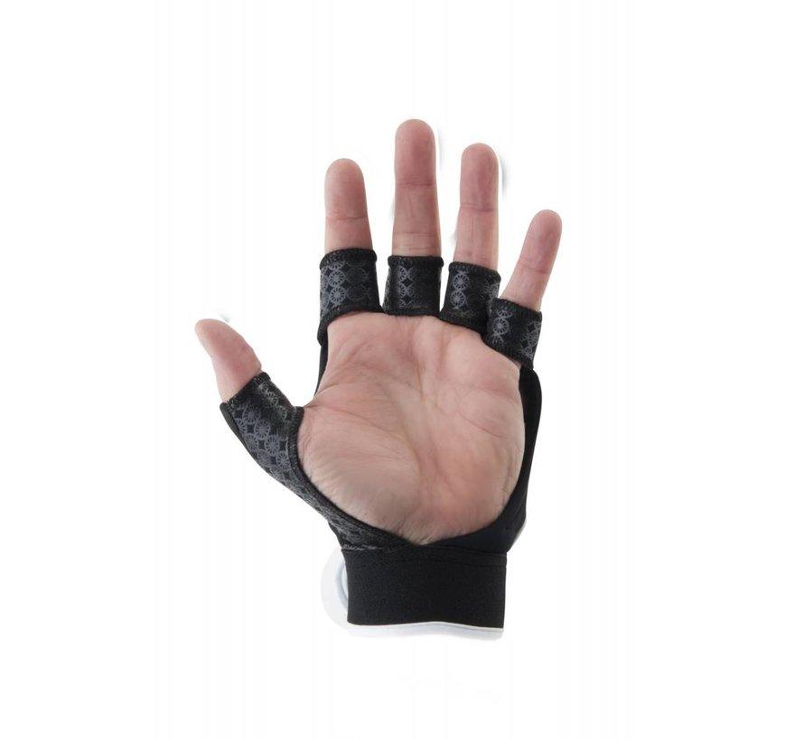 Glove shell half links Zwart