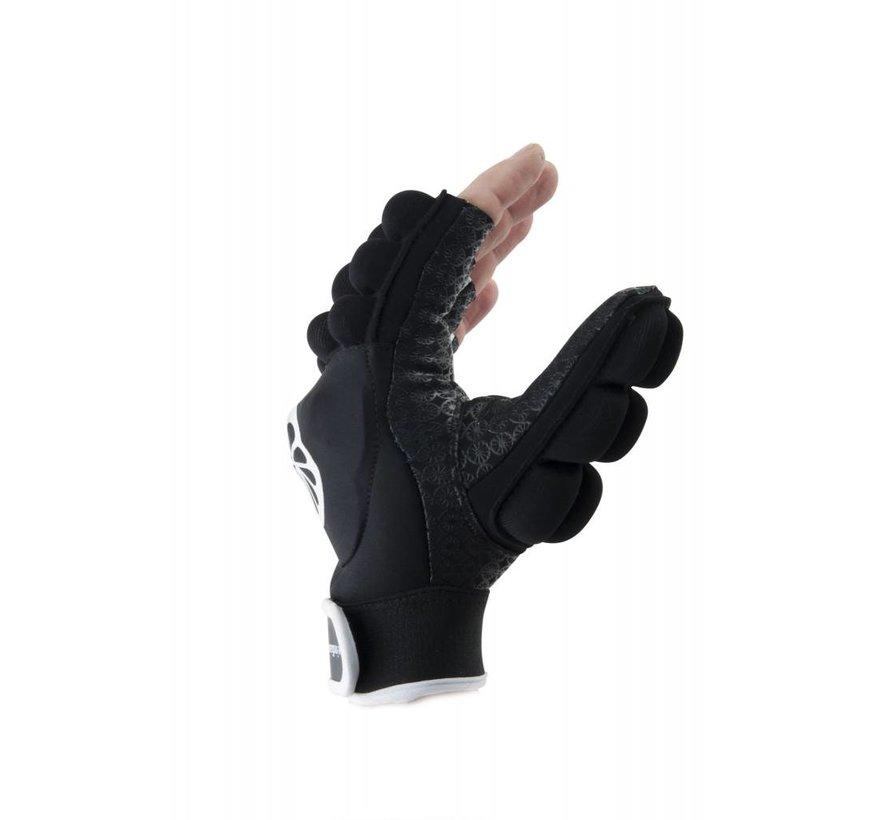 Handschoen shell/foam halve vingers zwart [links]