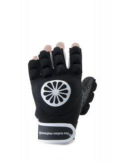 Indian Maharadja Handschoen shell/foam halve vingers zwart [links]