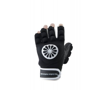 Indian Maharadja Glove shell/foam half links Schwarz