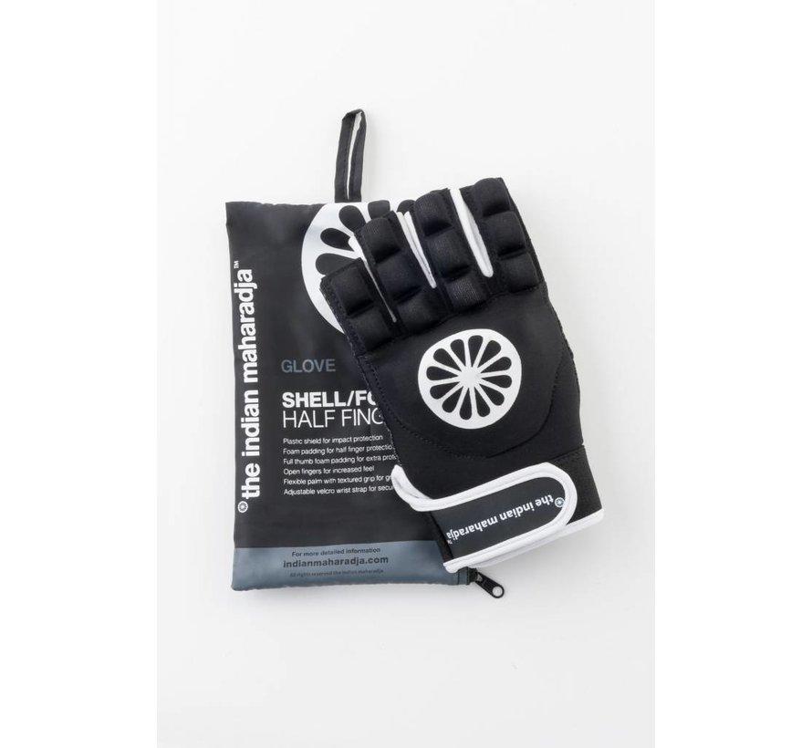 Hockeyhandschuh shell/foam half links Schwarz