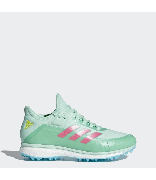 quality design 0a986 51a33 Adidas Fabela X MintPinkNeon Yellow