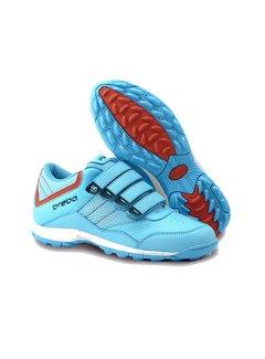 Brabo Velcro Hockey Shoe Light Blue/Orange