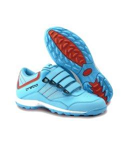 Brabo Velcro Hockeyschoen Lichtblauw/Oranje