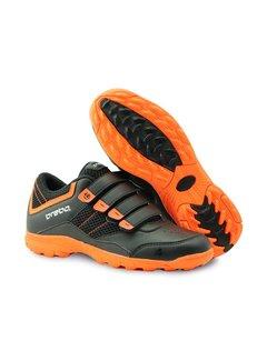 Brabo Hockeyschoen klittenband Zwart/Oranje