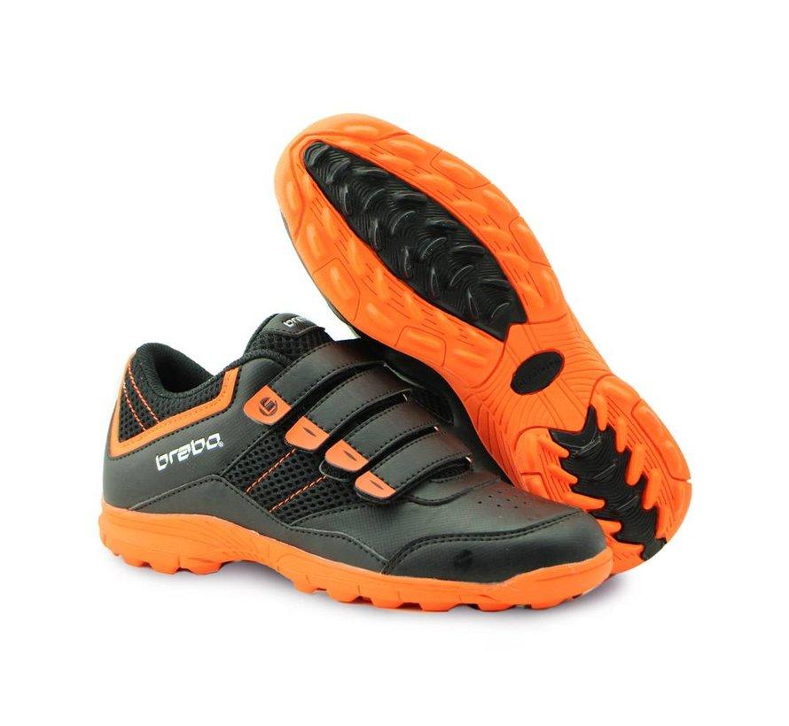 Velcro Hockey Schuh Schwarz/Orange