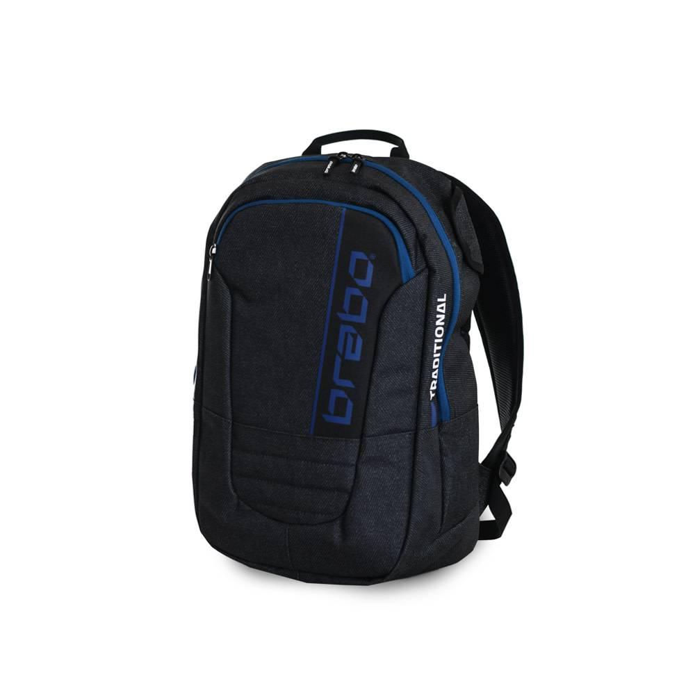 986e2e06c7b Brabo Backpack SR Traditional Denim Black/Blue, buy now! - Hockeypoint